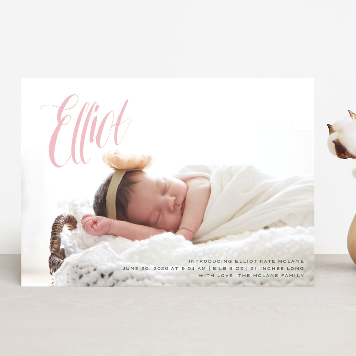 """""""In the Clouds"""" - Modern Birth Announcements in Slate by Kasia Labocki."""