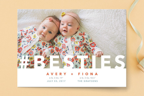 Hashtag Besties Birth Announcements