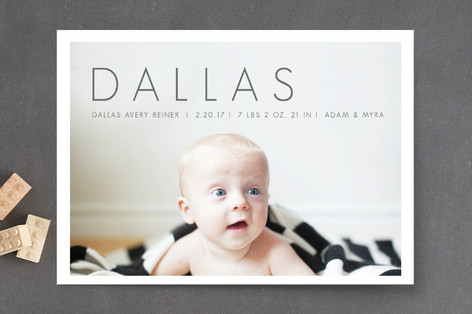 Pure Baby Birth Announcements