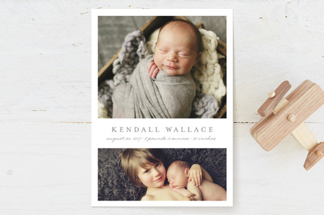 Simply Classic Birth Announcements