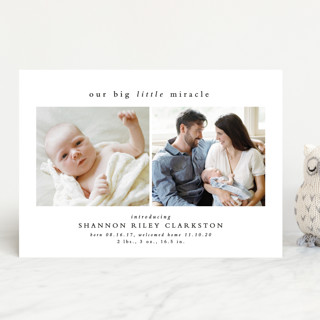 Big little miracle Birth Announcements