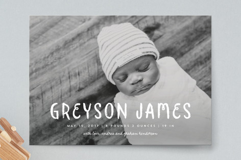 Classic Canvas Birth Announcements