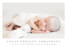 Menil Birth Announcements By Toast & Laurel