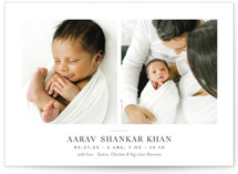 This is a blue birth announcement by Toast & Laurel called Curator with standard printing on signature in standard.