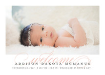 Graceful Entrance Birth Announcements By Jessica Williams