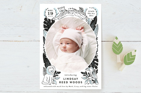 Jungle Pals Birth Announcements