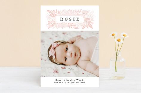 Foliage Name Frame Birth Announcements