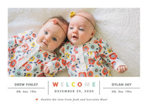 Double the Love Birth Announcements By Carolyn MacLaren
