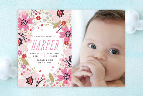 Garden Frame Birth Announcements