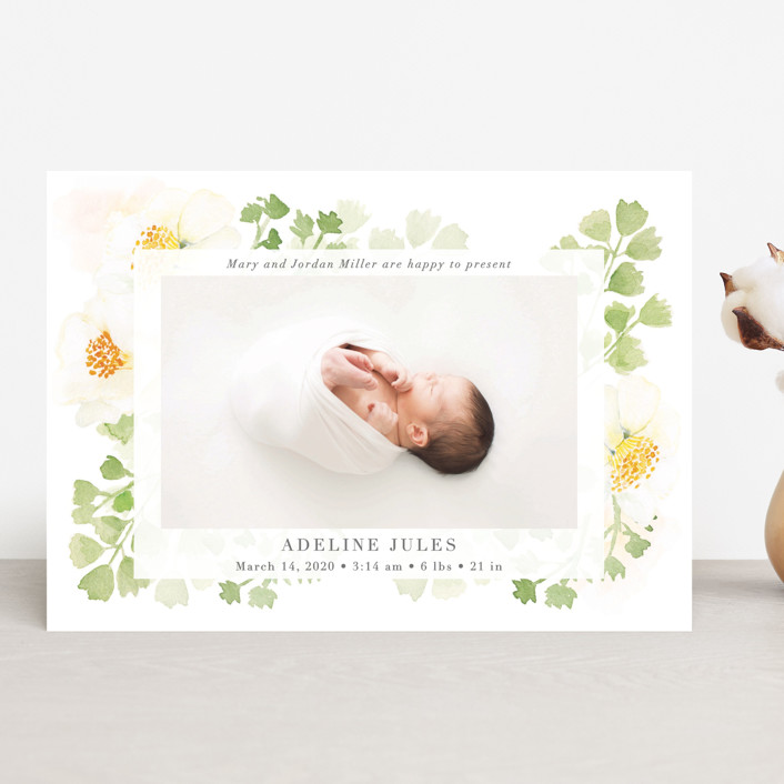 """""""Spring Love"""" - Birth Announcements in Lime by frau brandt."""