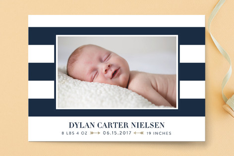 Classic Stripe Birth Announcements