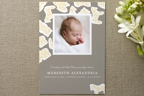 Animal Crackers Birth Announcements