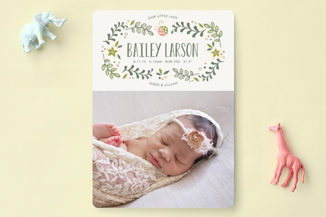 Sweet Little Lady Birth Announcements