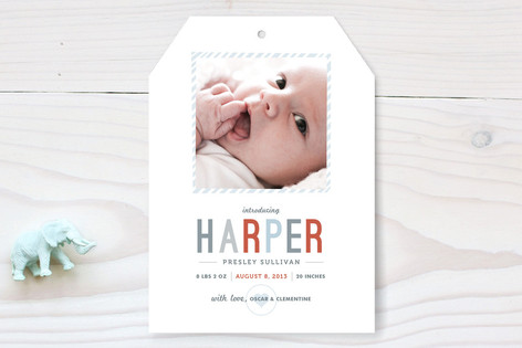 Close Up Birth Announcements