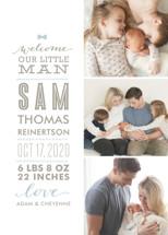 Little Man Birth Announcements By Lauren Chism