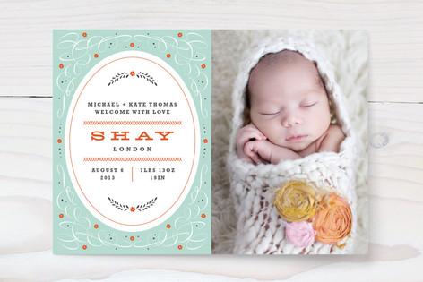 Vintage Charm Birth Announcements