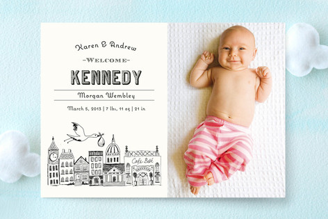 Vintage Storybook Birth Announcements by Griffinbe – Vintage Birth Announcement