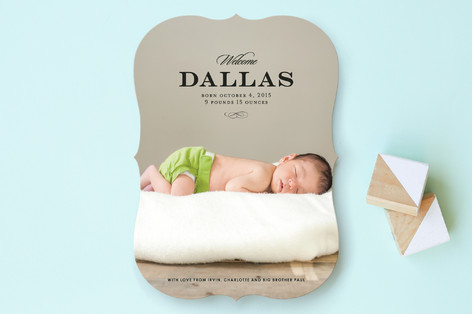 Simple and Elegant Birth Announcements