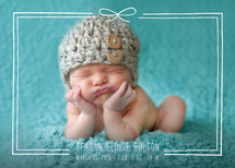 Little Bow Birth Announcements By Amber Barkley