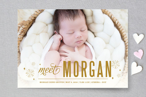 Bursting with Joy Birth Announcements