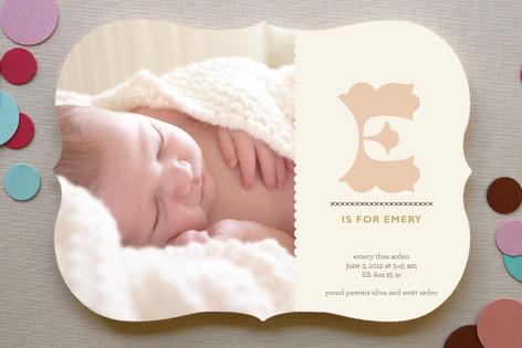Alphabet Birth Announcements