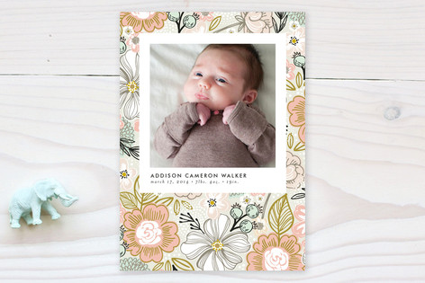 Simple Snapshot Birth Announcements
