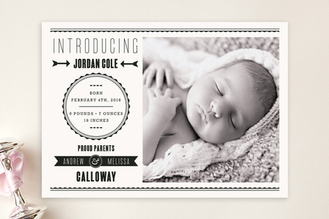 The Modern Way Birth Announcements