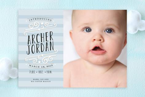 Star-Striped Label Birth Announcements