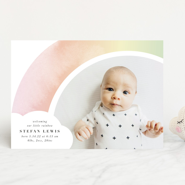 """""""Pretty Rainbow"""" - Whimsical & Funny Birth Announcements in Rainbow by Lori Wemple."""