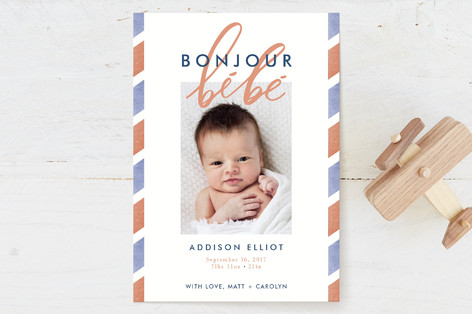 Bonjour Bebe Birth Announcements
