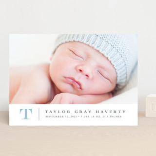 Stately monogram Birth Announcements