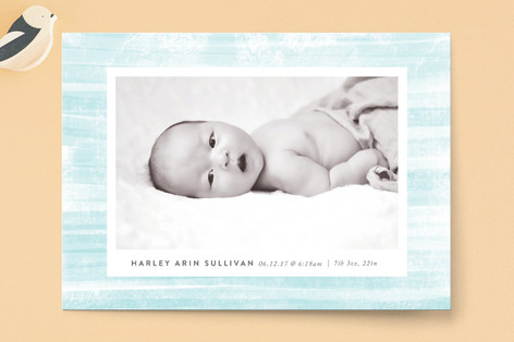 Painted Birth Announcements