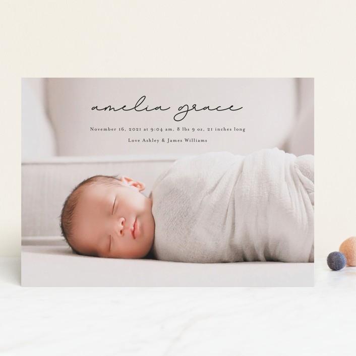 """""""pure grace"""" - Birth Announcements in Onyx by Kasia Labocki."""