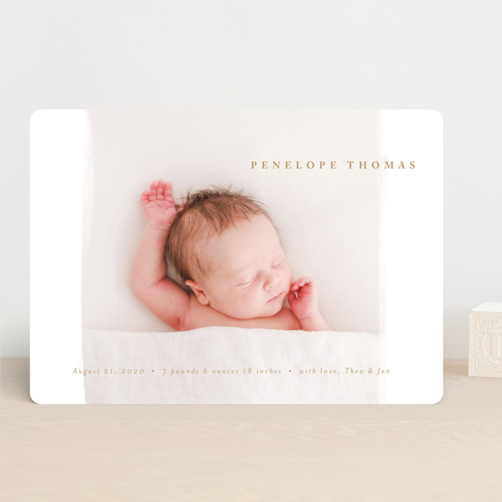 """""""mousse"""" - Modern Birth Announcements in Charcoal by chocomocacino."""