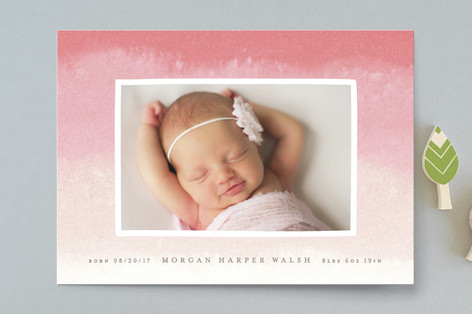 Dip Dye Birth Announcements
