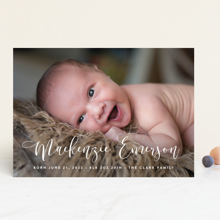 """""""Featured Name"""" - Birth Announcements in Cotton by Hooray Creative."""