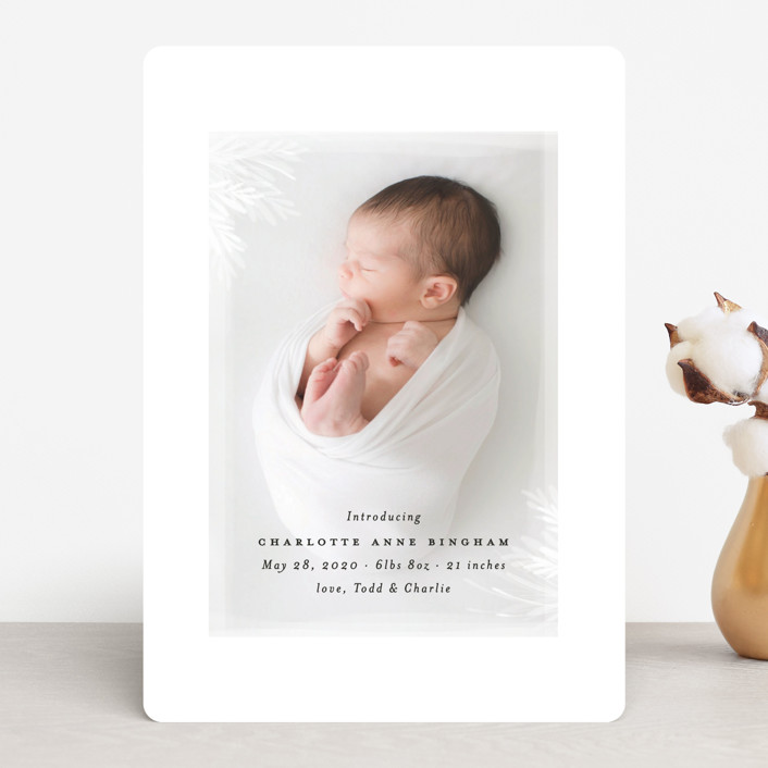 """whispering botanicals"" - Birth Announcements in Cotton by Faith Dorn."