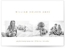 This is a brown birth announcement by Erin L. Wilson called Tiled with standard printing on smooth signature in standard.