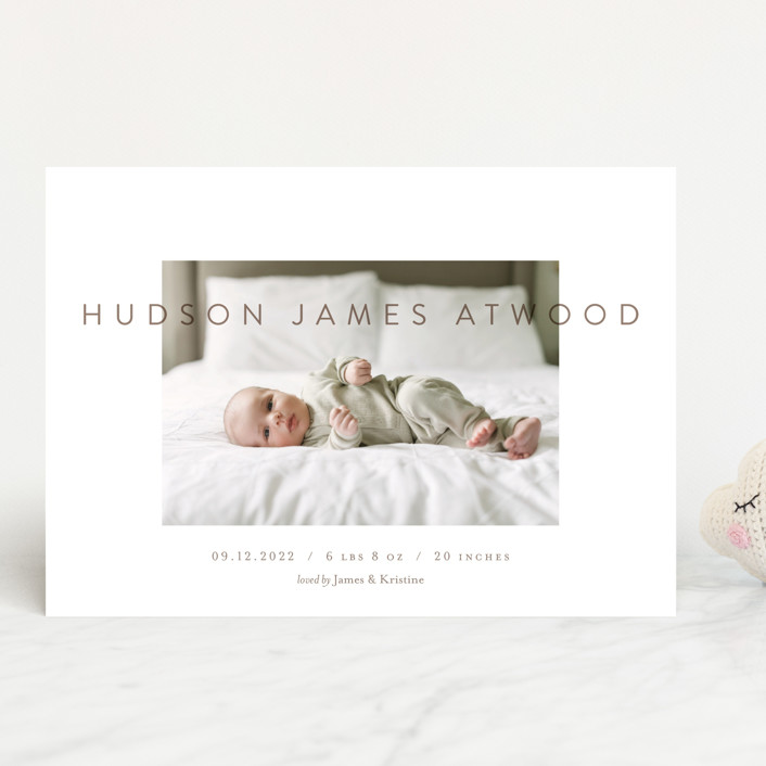 """""""The Hudson"""" - Birth Announcements in Sandlewood by Eric Clegg."""