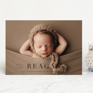 Bold Classic Birth Announcements