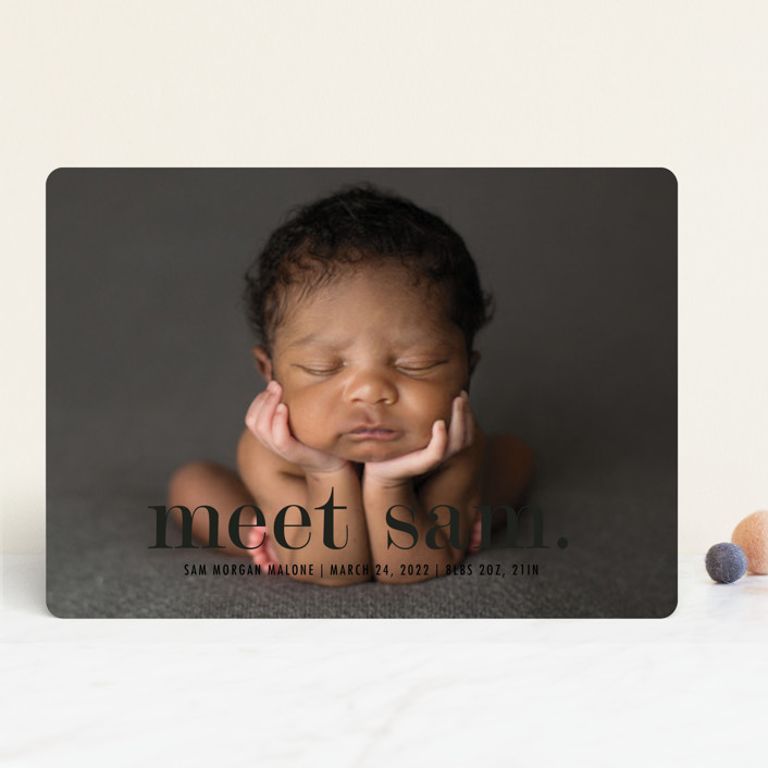 """""""Meeting"""" - Birth Announcements in Cloud by Up Up Creative."""