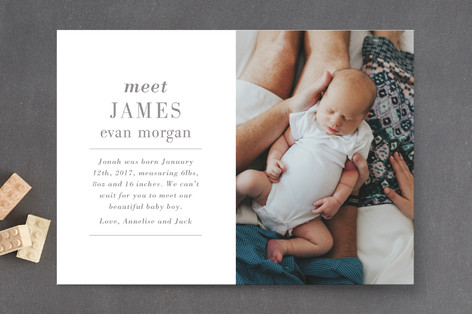 Editorial Keepsake Birth Announcements