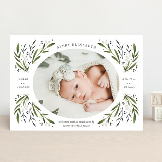 floral spray Birth Announcements