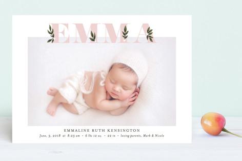 Botanical Name Birth Announcements