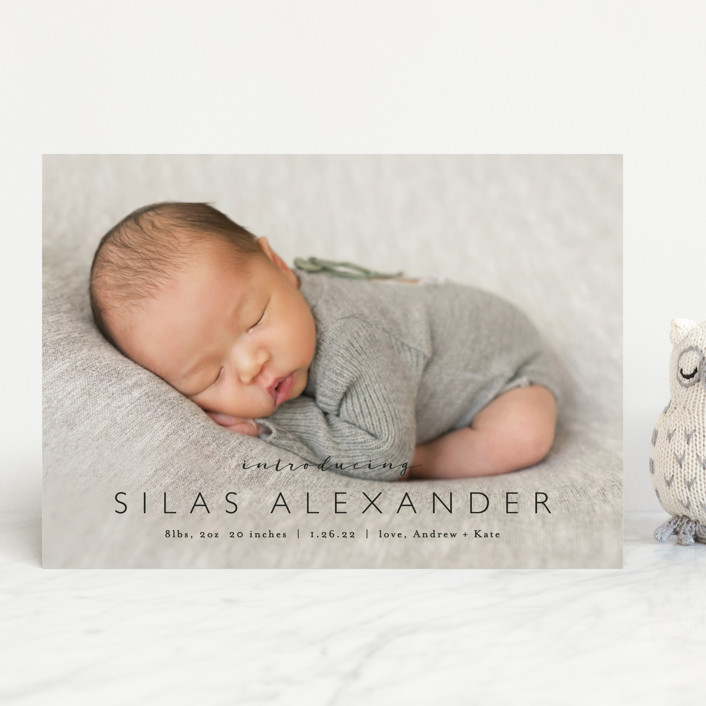 """""""Baby Bliss"""" - Birth Announcements in Cloud by Carolyn MacLaren."""