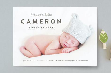 Big Debut Birth Announcements