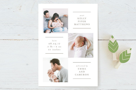 Linear Birth Announcements