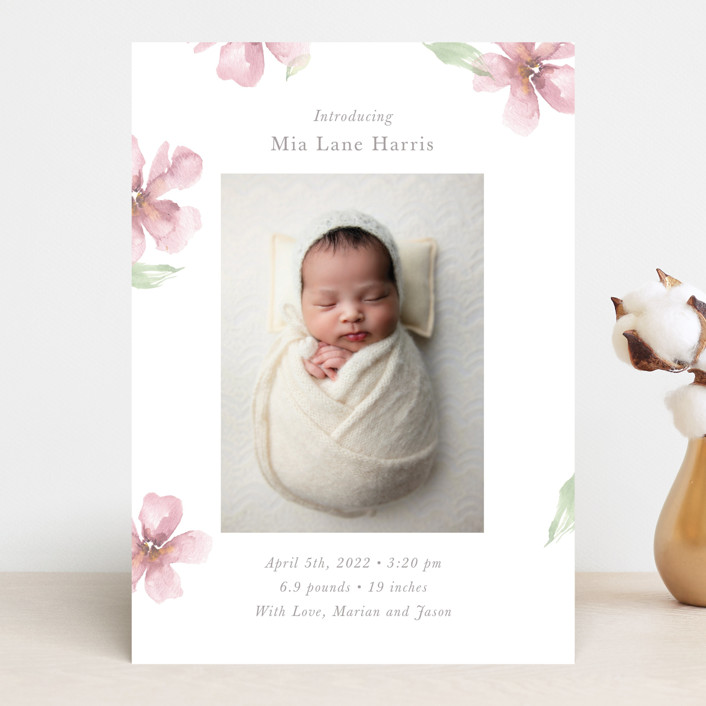 """Flower Petals"" - Birth Announcements in Petals by Melinda Denison."