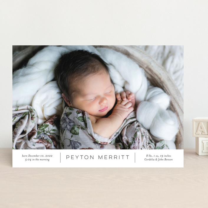 """Merritt"" - Birth Announcements in Ink by Toast & Laurel."