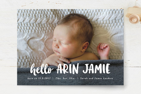 Hello Sweet baby Birth Announcements